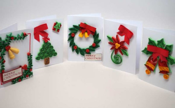 5 small Christmas cards