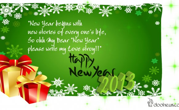 2013 Happy New Year Greeting