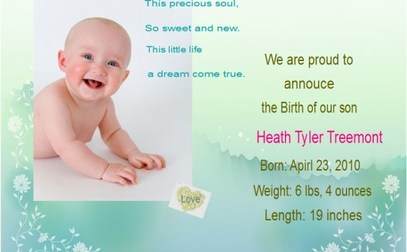 Baby Announcement Photo Cards