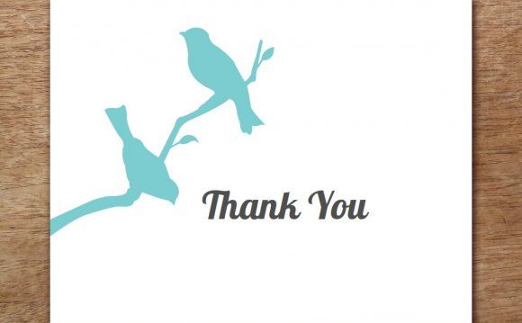Birds Thank You Card Template