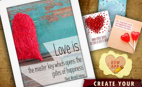 Design and create love cards