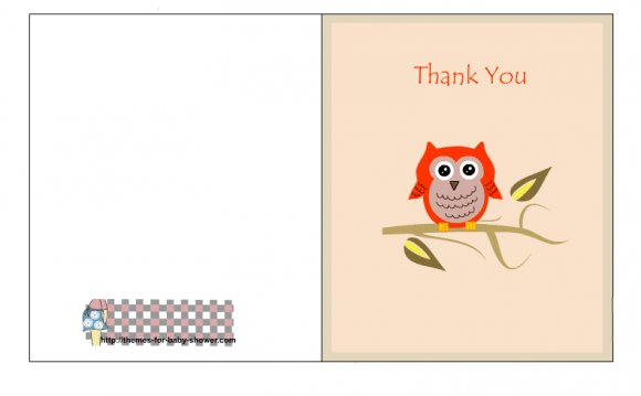 With this thank you card