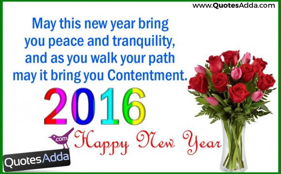 Happy New Year 2016 Peace