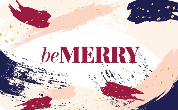 Be Merry Artsy Christmas Cards