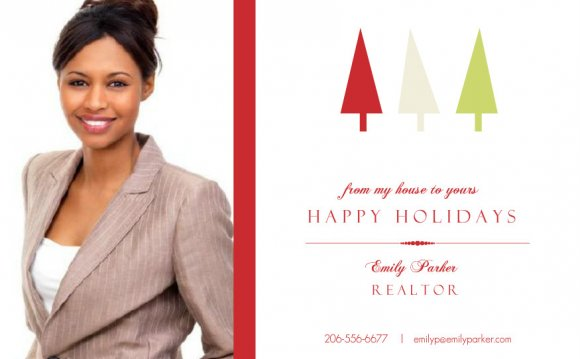 Realtor Holiday Photo Card