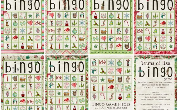 Christmas Bingo cards generator - Greeting Card Examples and Templates