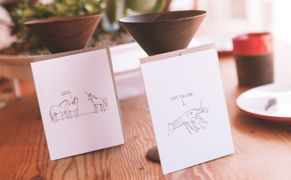 These witty greeting cards are