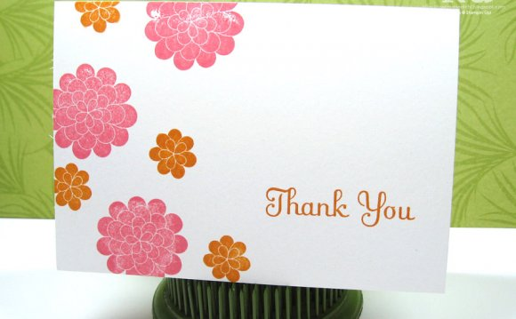 Creating thank you cards a