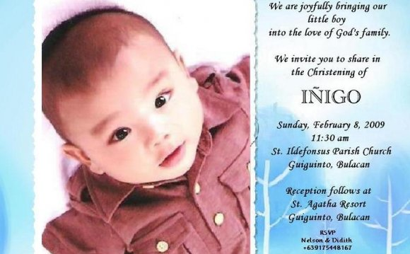 Sample Invitation Card For