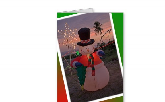 Tropical Snowman Greeting