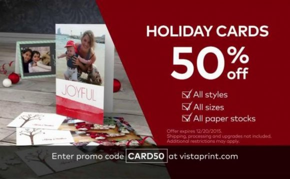 Vista Print Holiday Cards TV