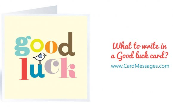 What to Write in a Good Luck