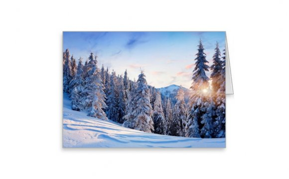 Winter scene Blank Photo