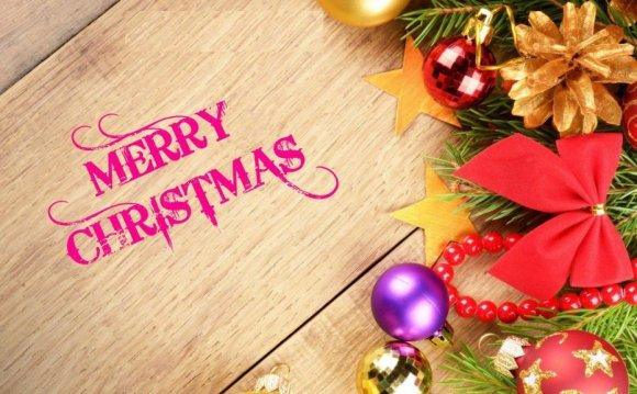 Wood Color Merry Christmas