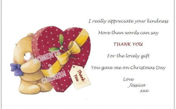 Kids Christmas Thank you Cards