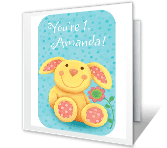 1st Birthday Girl greeting card