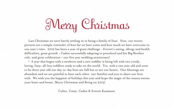 Christmas card Greetings Word
