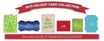 2015 Hand Lettered Holiday Card Collection by Visage Creative