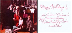 Actress Jayne Mansfield sent this handwritten note and family photo to Elvis.