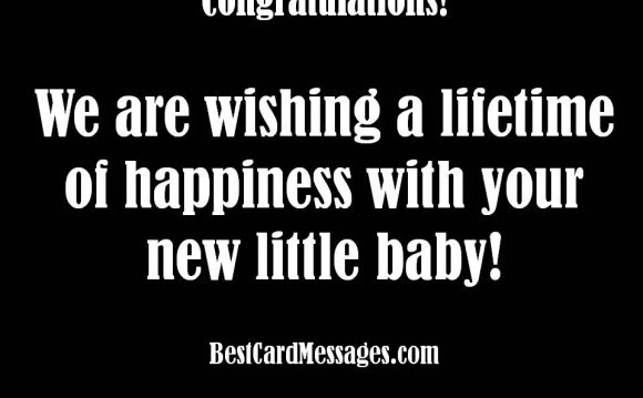 Baby shower greeting card messages