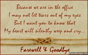 Beautiful farewell and goodbye quote for co-workers