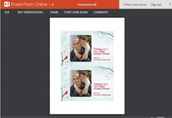 Beautifully Designed Snow Themed Holiday Photo Card Template