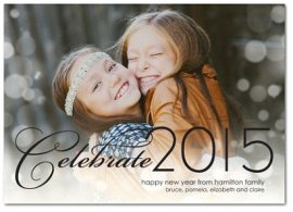 bokeh black 2015 new year card