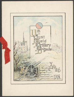 Card from the 11th Australian Field Artillery