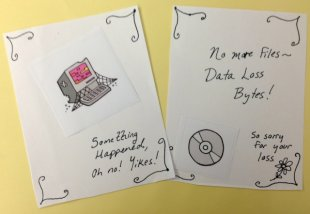 Card mockup by Abbie Grotke; graphics from Digital Preservation Business Case Toolkit