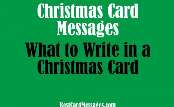 Greetings to write in Christmas cards