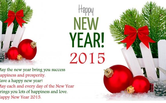 Happy New Year 2015 Greetings Cards