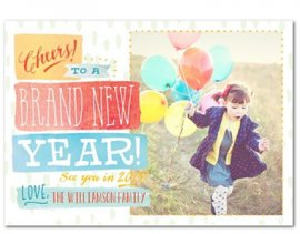 colorful new year's card