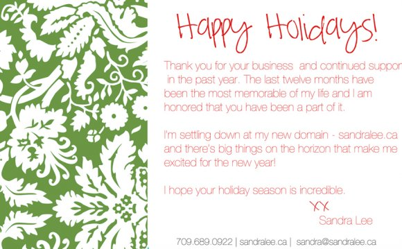 Thank you, Holiday Cards