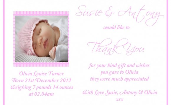 Thank you Birth Cards