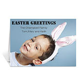 Easter Photo Greeting Cards, 5x7 Folded