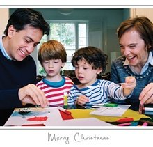 Ed Miliband official Christmas card last year.