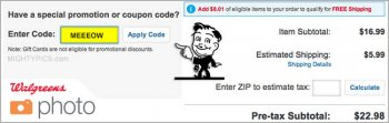 enter walgreens photo coupon