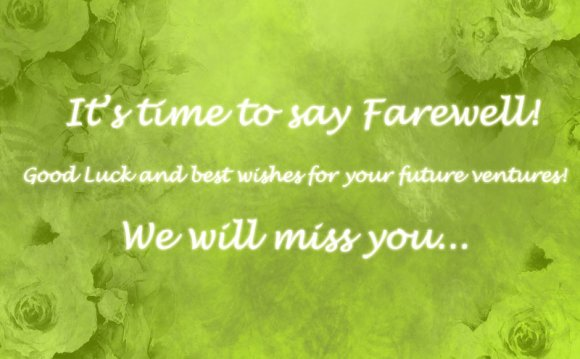 Farewell Greeting Cards For Colleagues