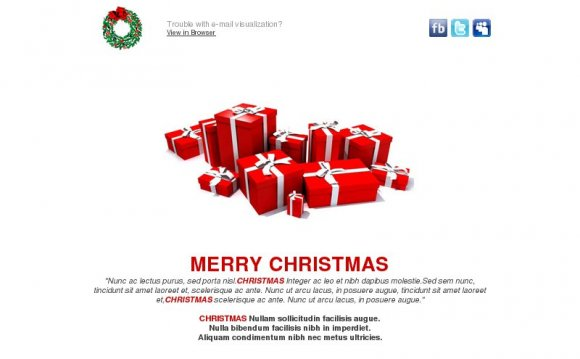 Email Christmas Greeting