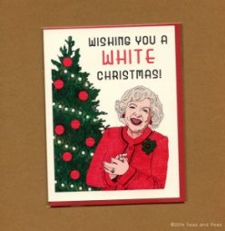 Funny Christmas Cards: Betty White Christmas at Seas and Peas