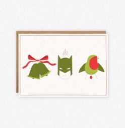 Funny holiday cards: Jingle Bells,  Batman Smells... from Little Lovelies Studio