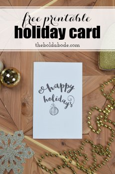 Grab this free printable holiday card and share the love with all of your friends and family! No need to purchase expensive cards when you can have this one!
