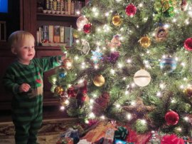 Grady is never more fun than at Christmas time. Alexandria, December 2014