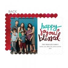 Happily Blessed Christmas Cards