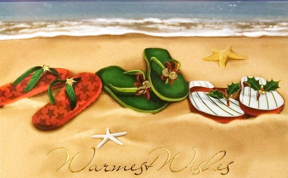 Hawaiian Christmas cards