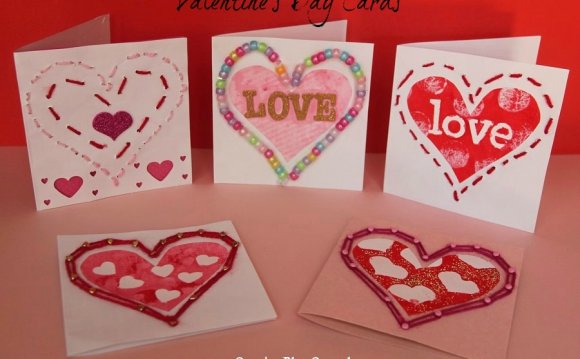 Homemade Greeting cards for Valentine Day