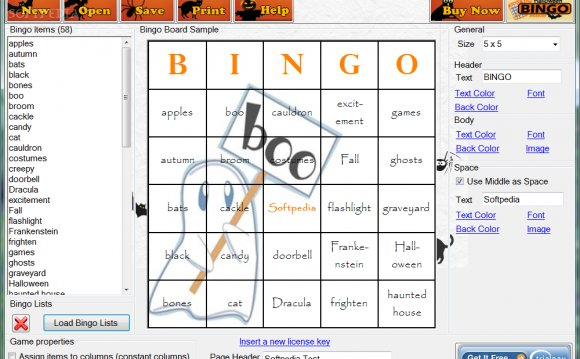 Make Bingo cards with pictures