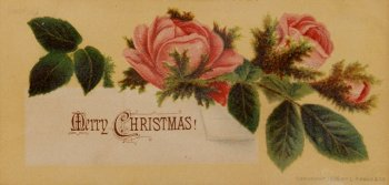 Louis Prang Christmas Card Greeting