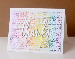 Make a Watercolor Thanks Card with Distress Markers