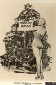 Marilyn Monroe starred on her own Christmas card and saved a penny by using a studio pose.